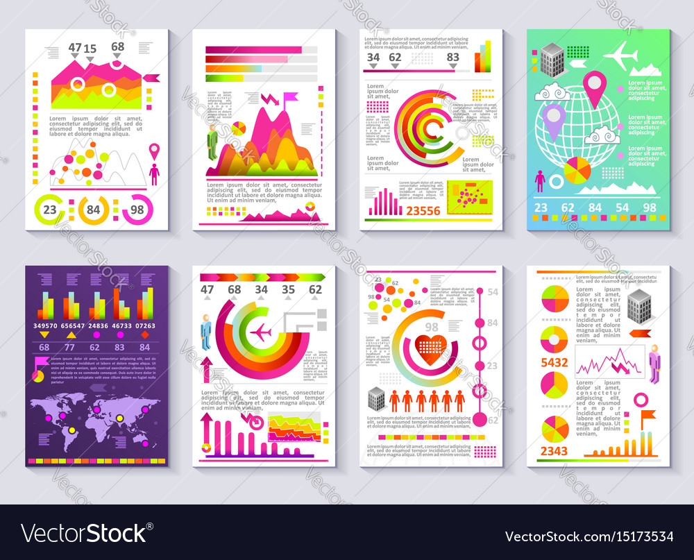 Graphical business report template modern vector image