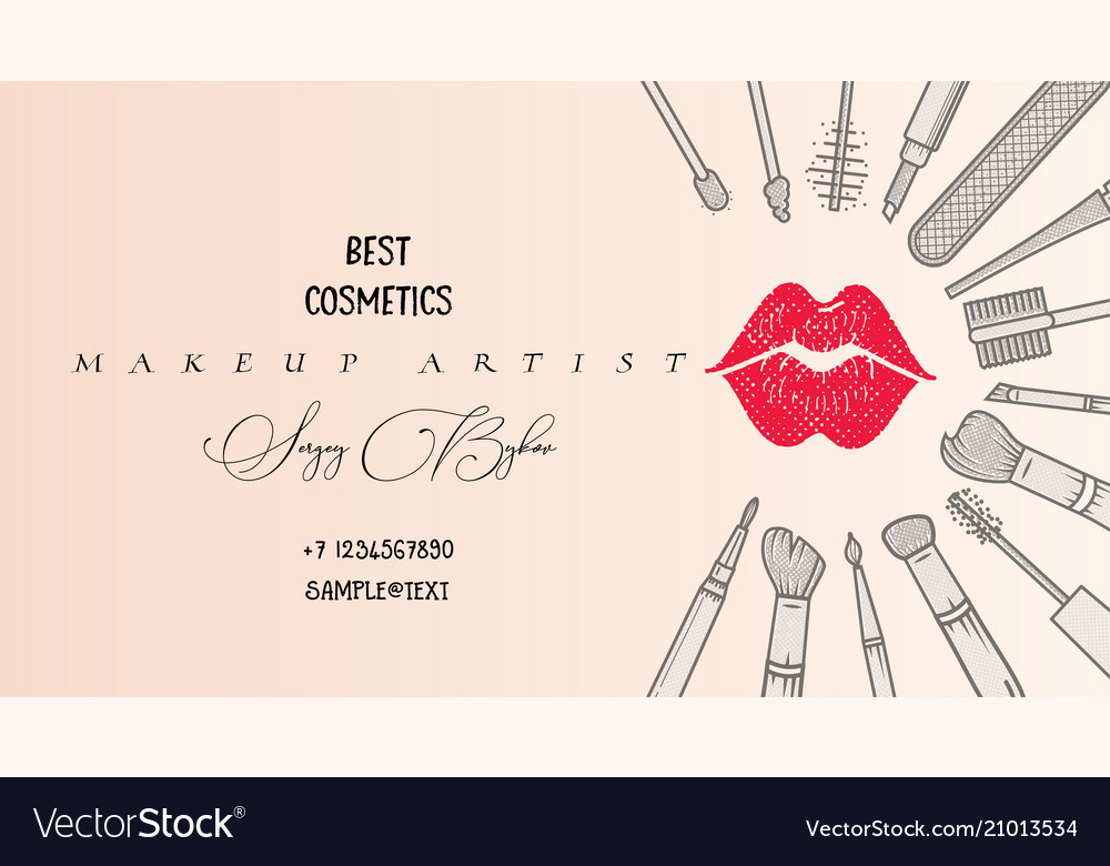 Makeup Artist Banner Beauty Salon Fashion Trends Vector Image