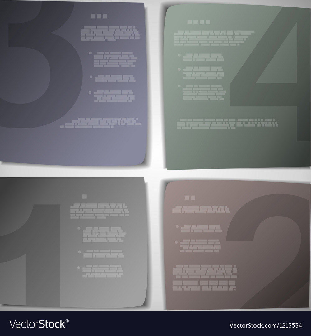 Paper pages for progress or versions presentation vector image