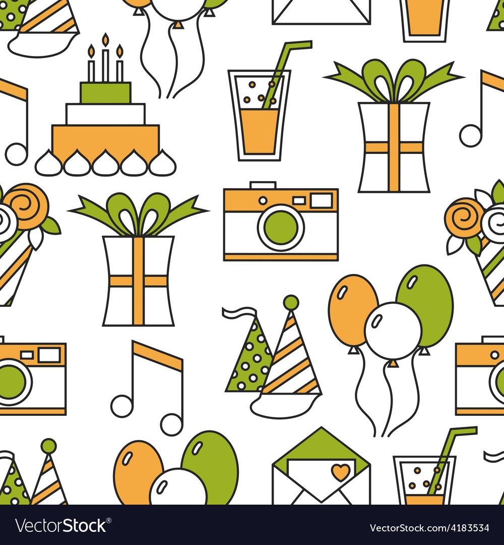 Seamless holiday pattern happy birthday
