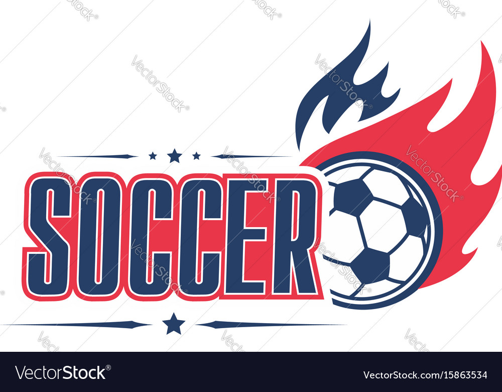 Soccer Ball Fire Football Team Club Icon Vector Image