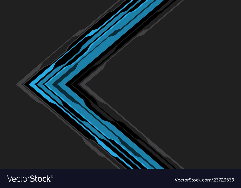 Abstract blue black arrow circuit on grey