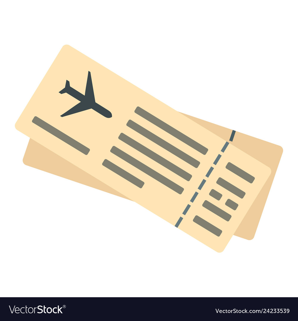 Air ticket icon flat style