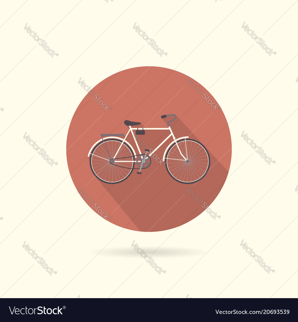 Bicycle flat round icon