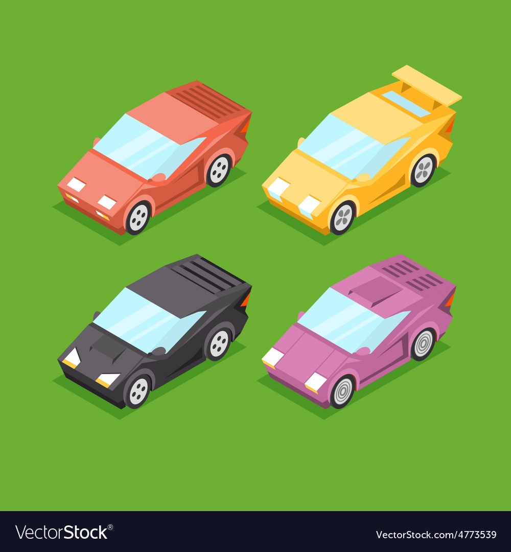 Cartoon Isometric Super Cars
