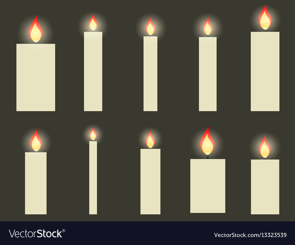 Christmas candles in a flat design