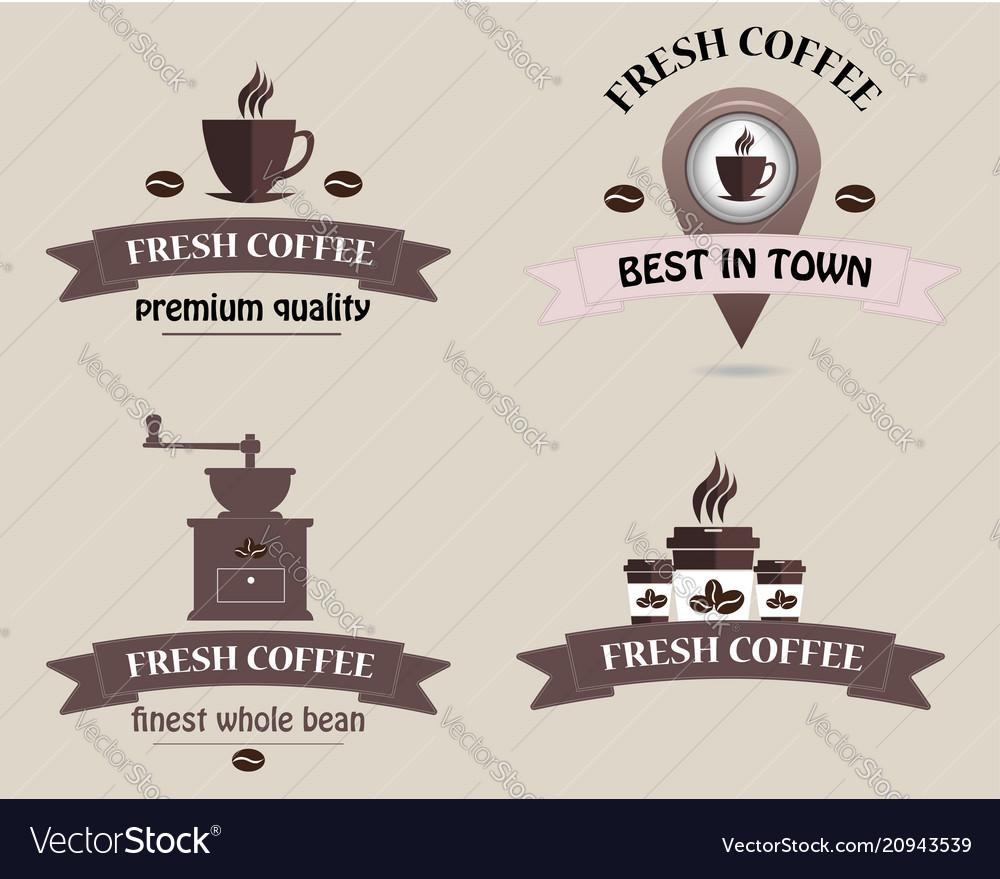 Coffee shop logo coffee logo