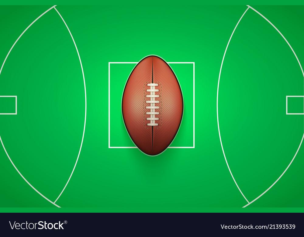 Poster template of australian rules football ball