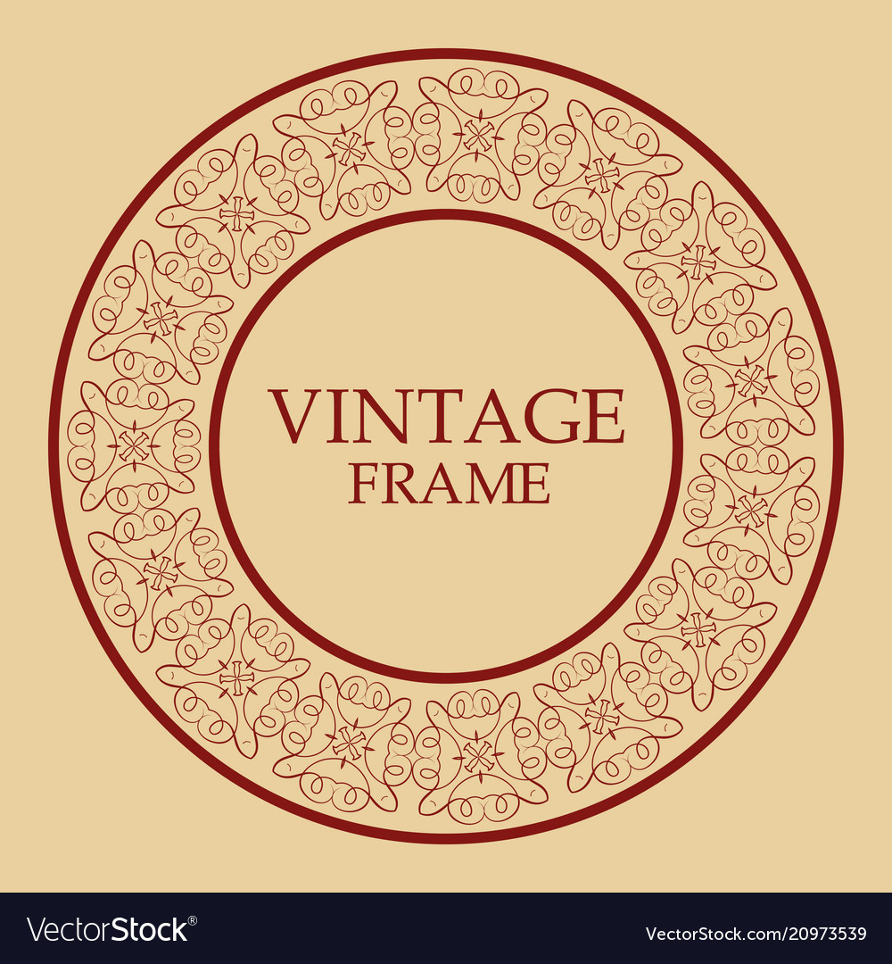 Vintage retro frame