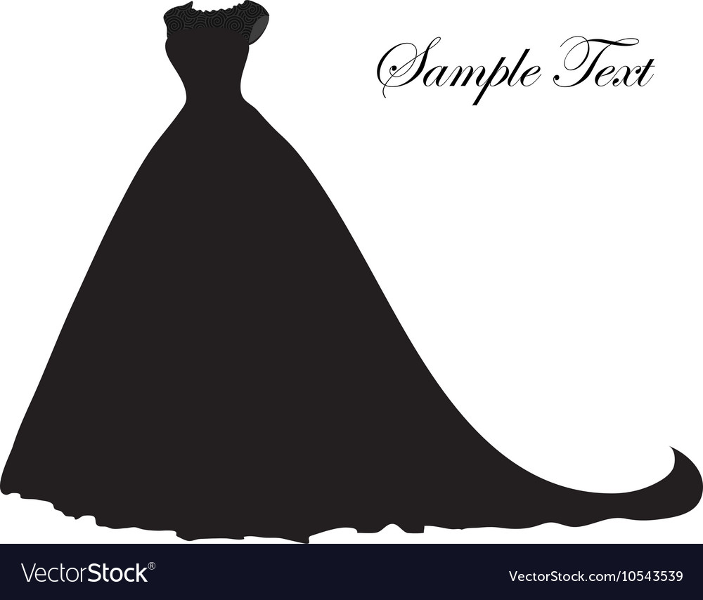 wedding dress silhouette banner blank template