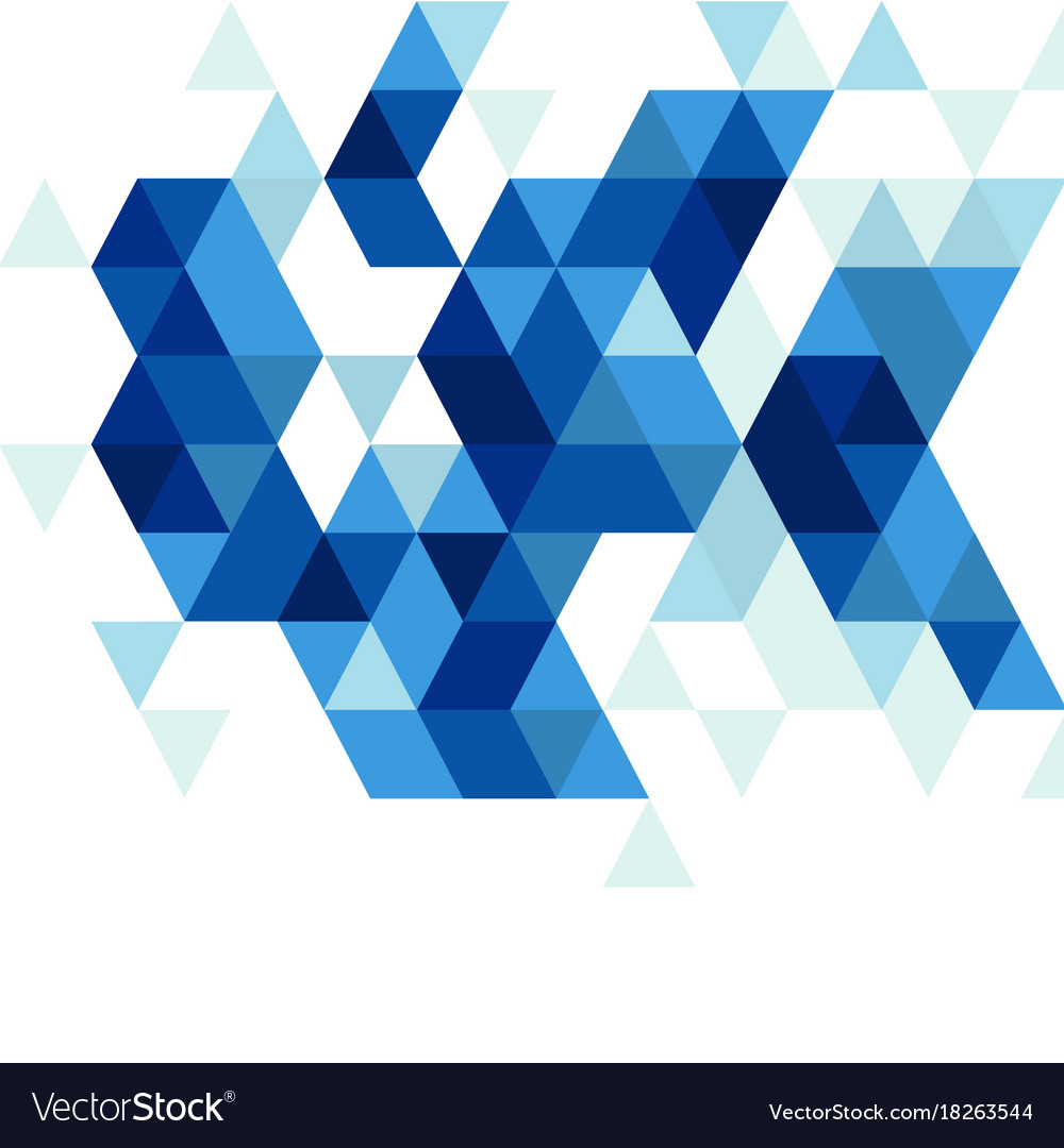 Abstract blue triangle modern template