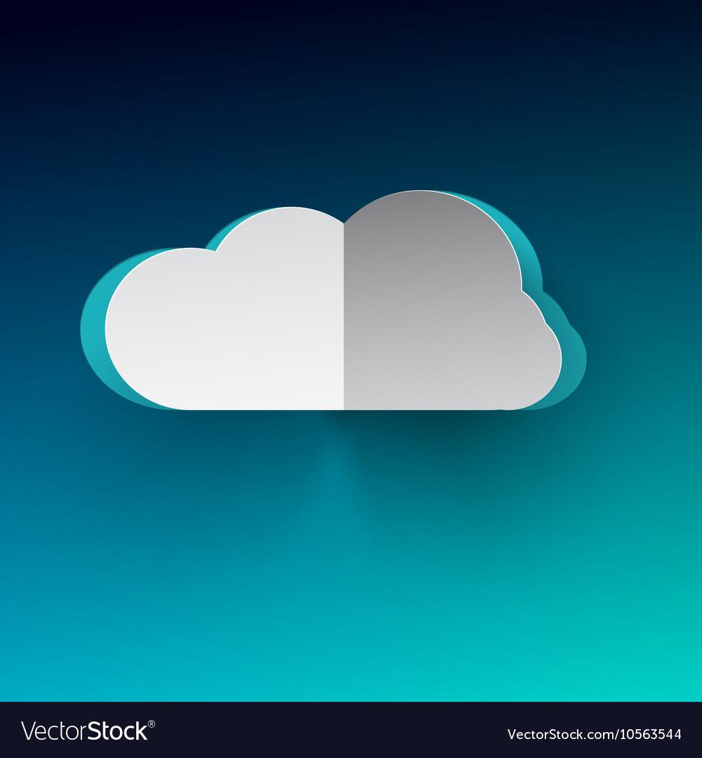 Cloud Cloud Paper Cut Cloud on Blue Backgr
