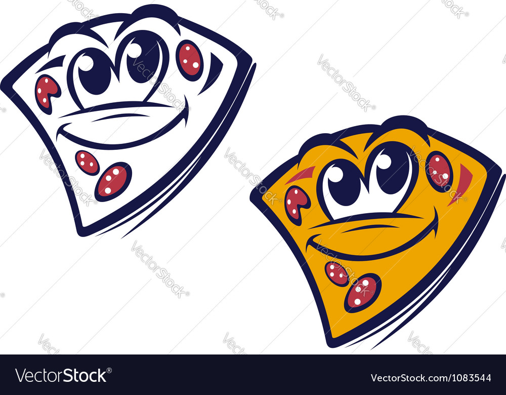 Funny slice of pizza