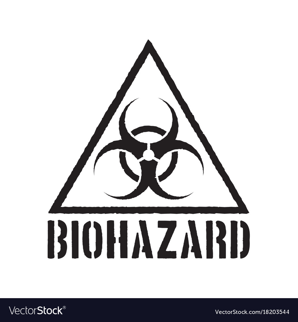 Grunge Biohazard Symbol Royalty Free Vector Image