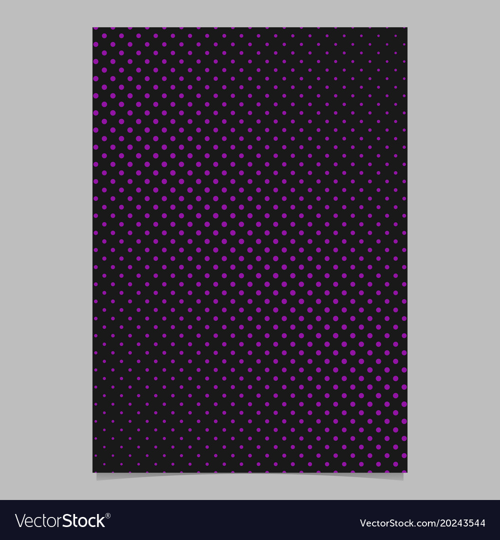 Halftone dot pattern page background template