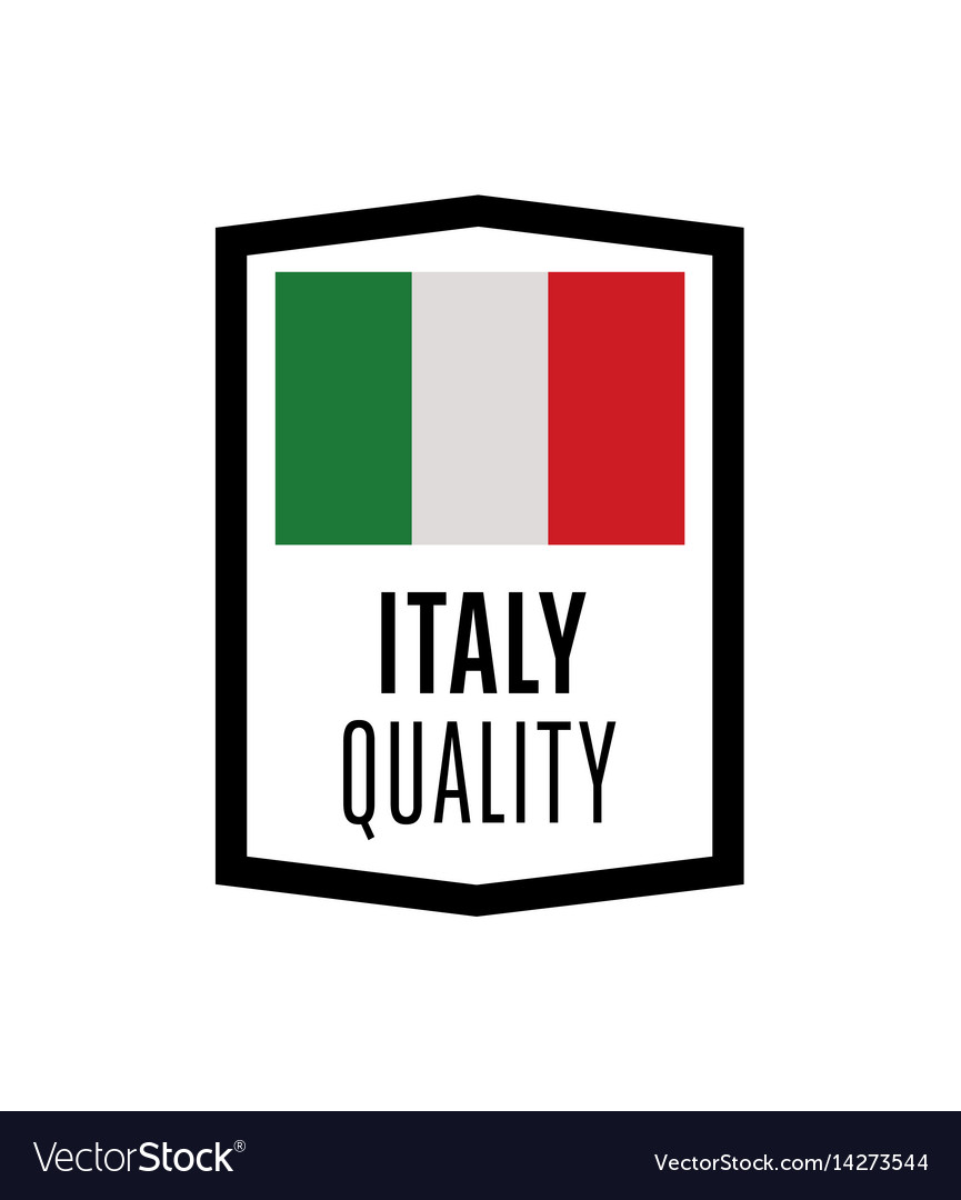 Italy quality isolated label for products