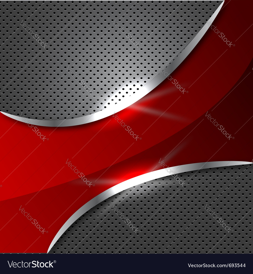 Red metalic background