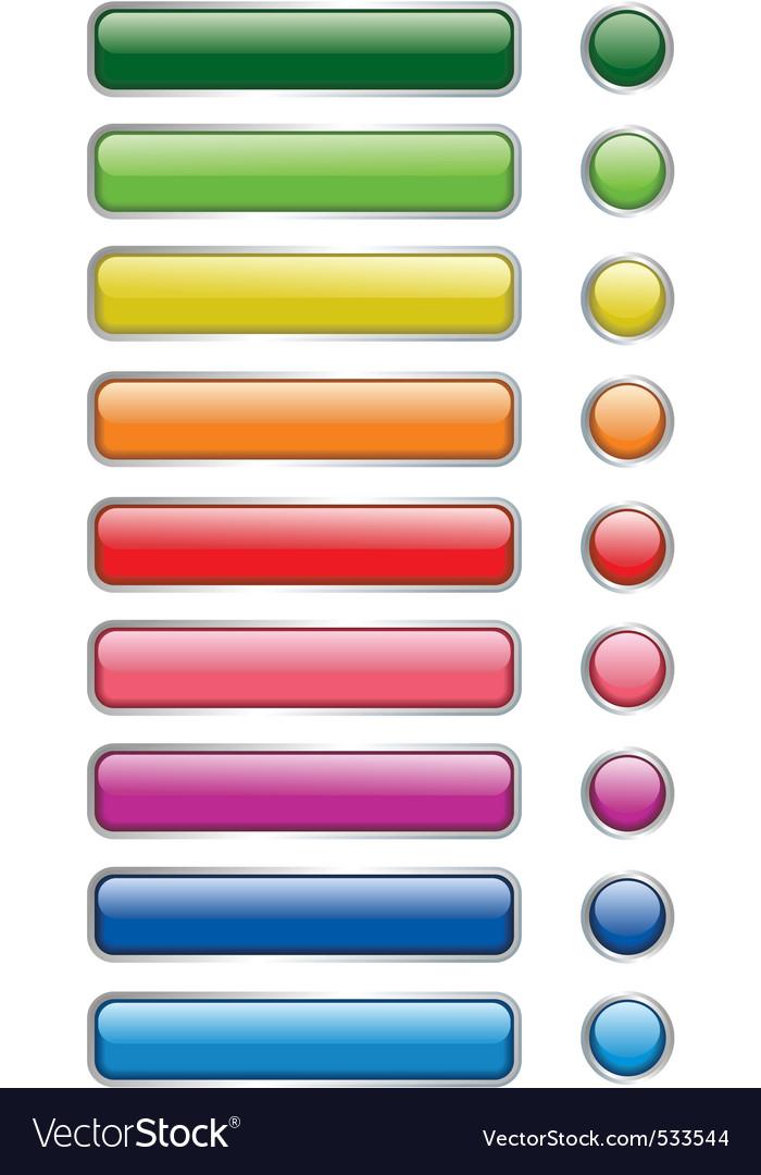 Web und print buttons