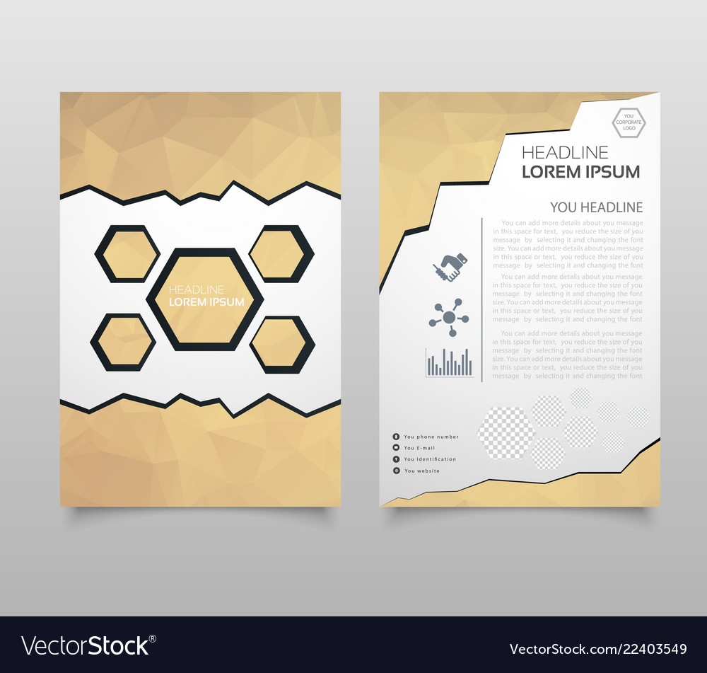 Abstract triangle brochure flyer design in a4