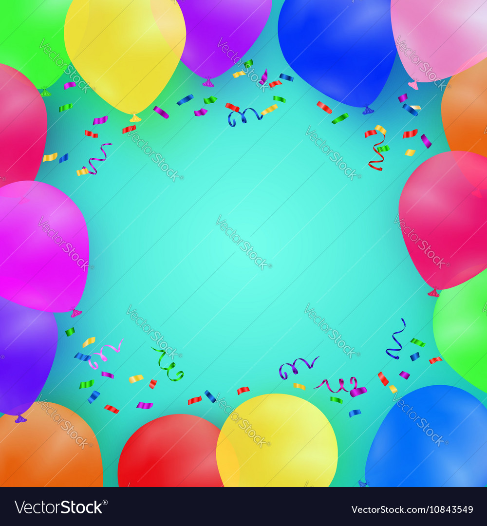 Celebrating background with colorful balloons