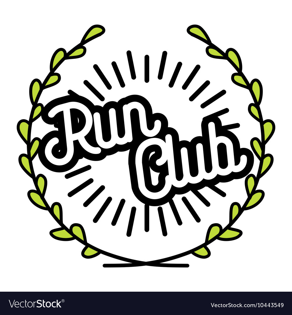 Color vintage run club emblem