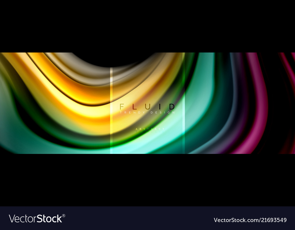 Fluid colors abstract background colorful poster