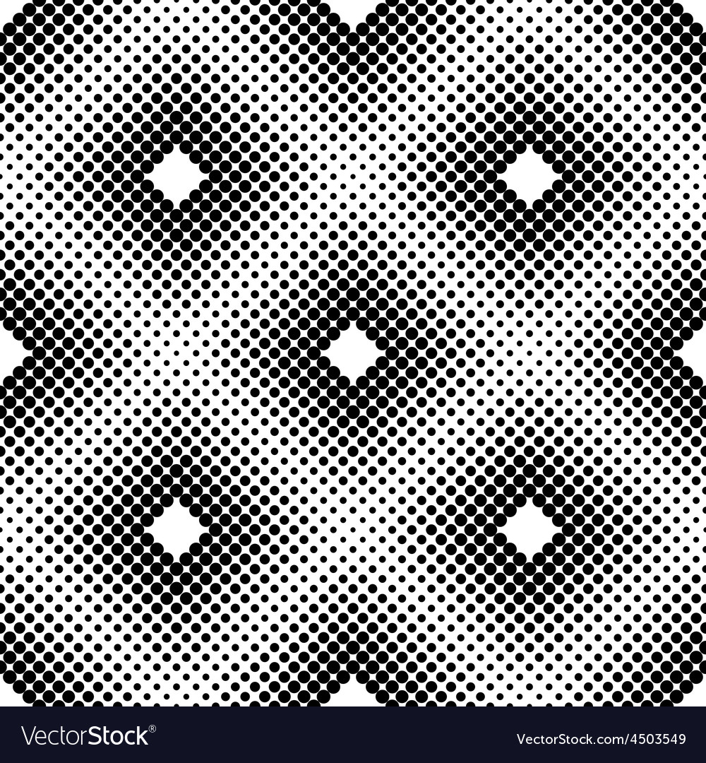 Halftone Square Tiles Seamless Pattern