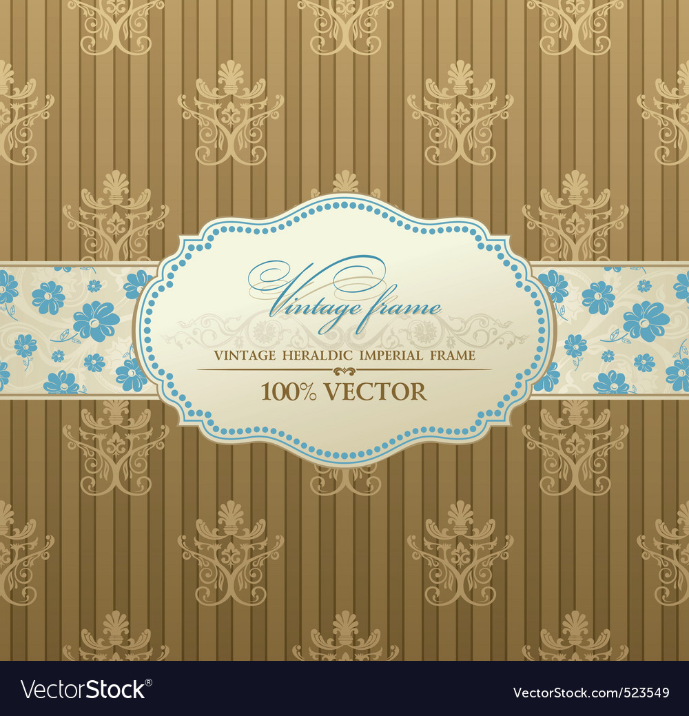 Invitation vintage label vector frame royalty free vector invitation vintage label vector frame vector image stopboris Images