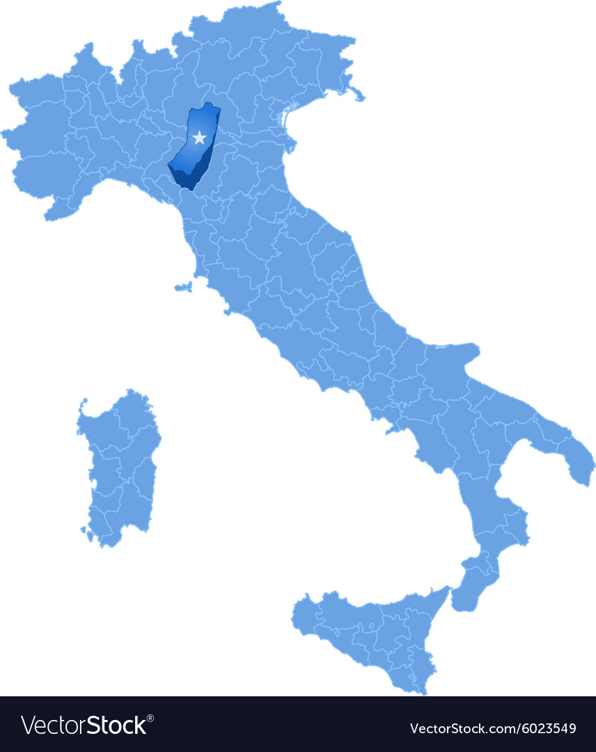 Map of Italy Reggio Emilia