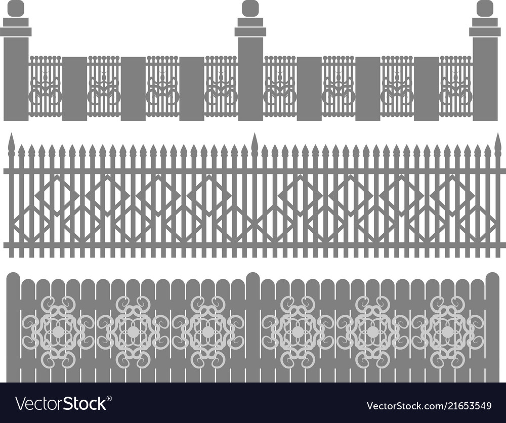 metal fence grid forged fence royalty free vector image