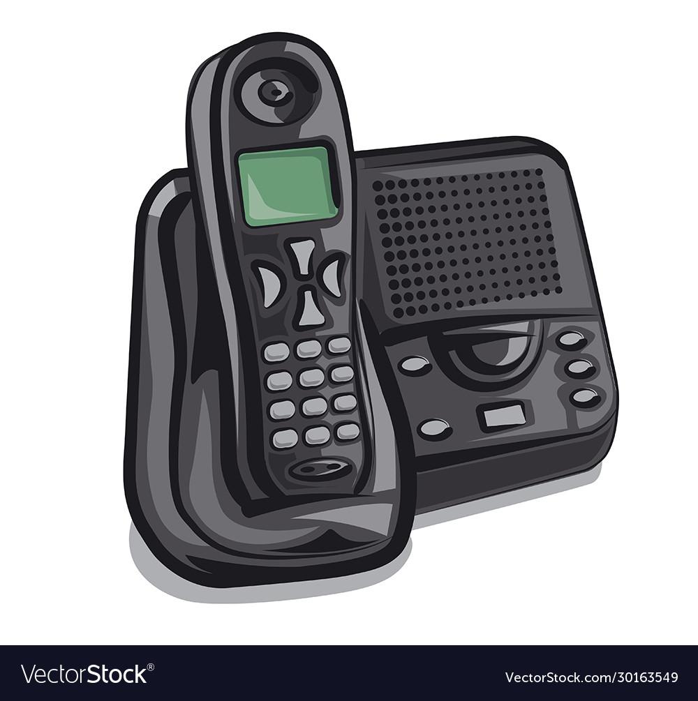 Cordless Phone Royalty Free Vector Image
