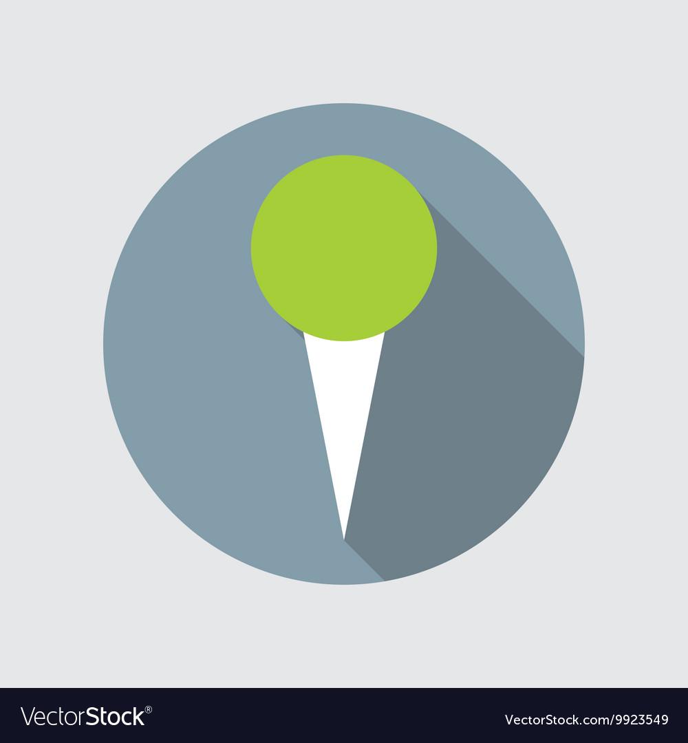 Pin Flat Icon vector image
