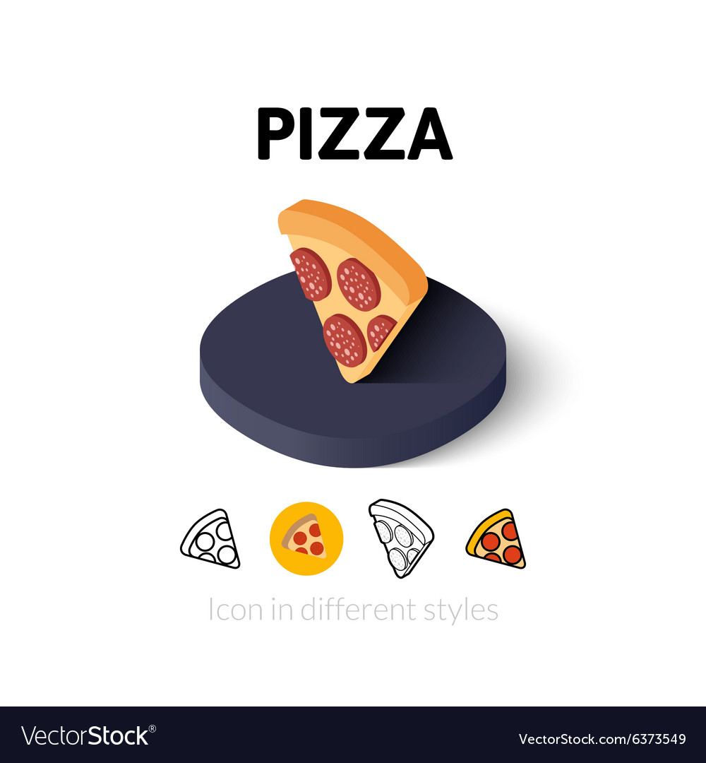 Pizza icon in different style