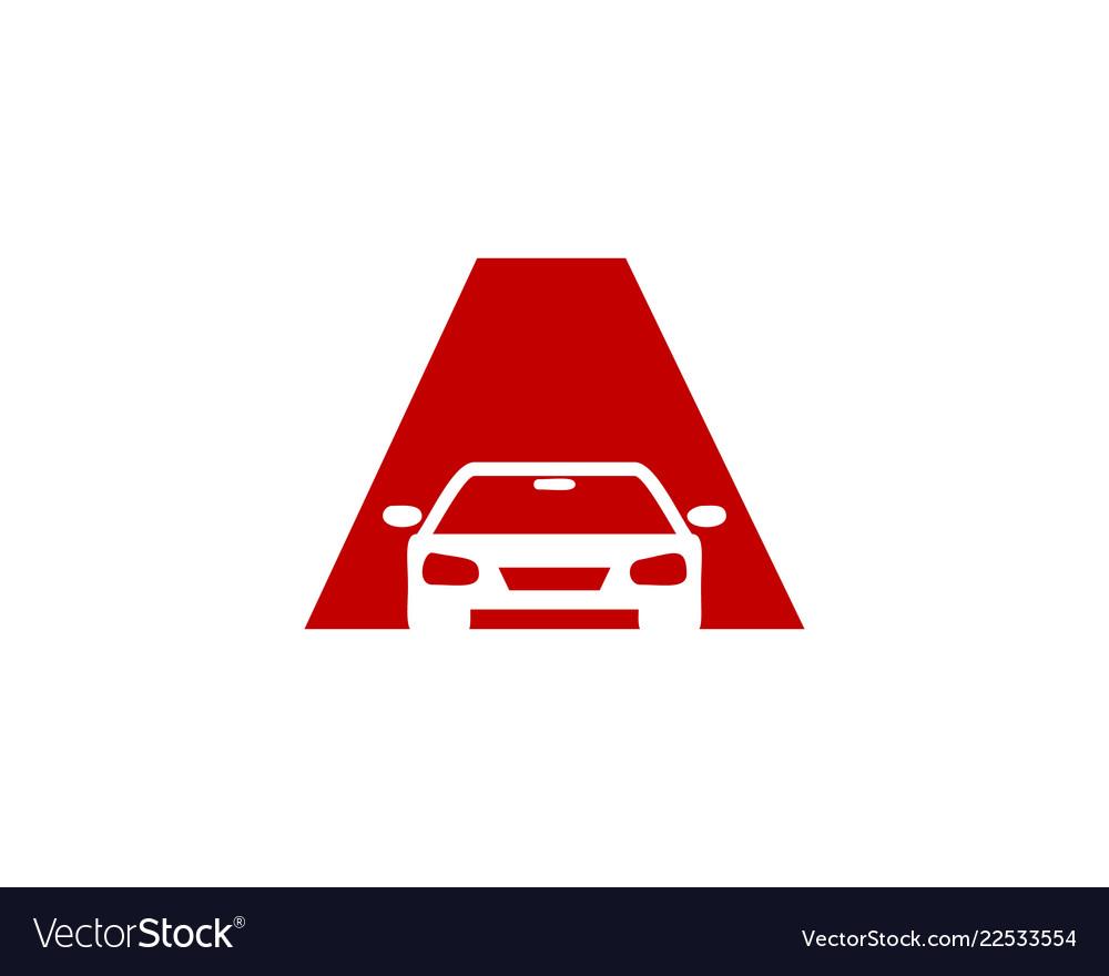 A letter automotive logo icon design