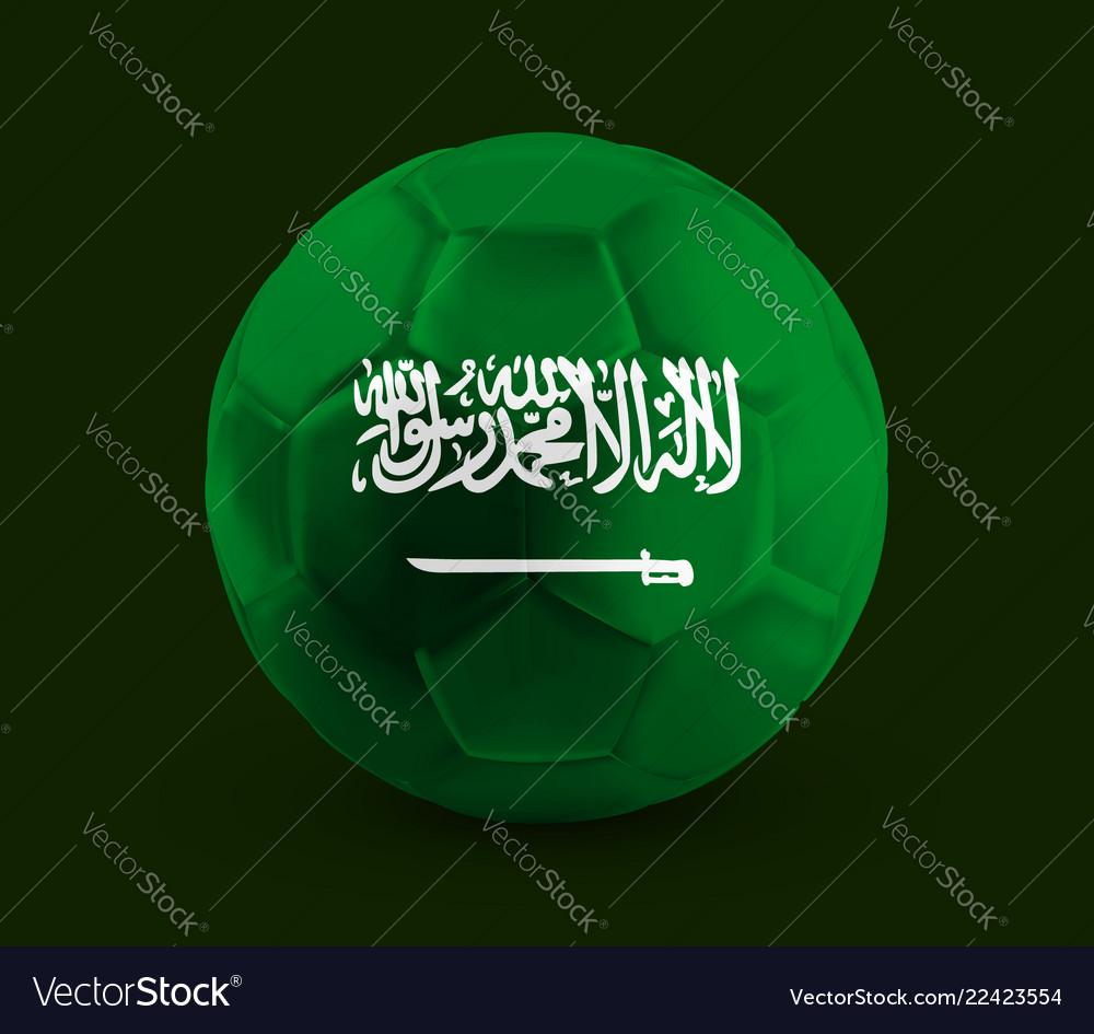 Football soccer ball with the national flag