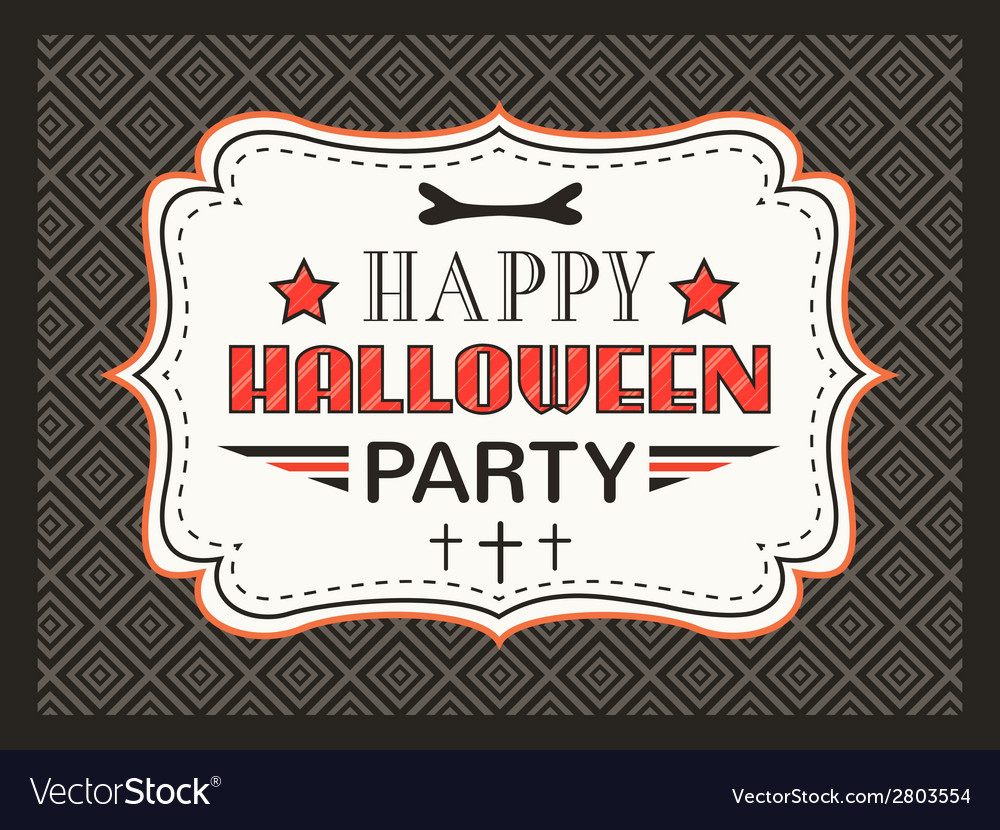 Happy Halloween Party card Typography letters font