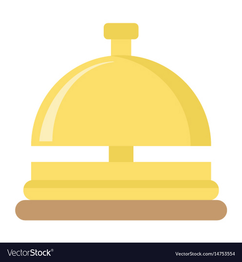 Hotell bell flat icon travel and tourism vector image