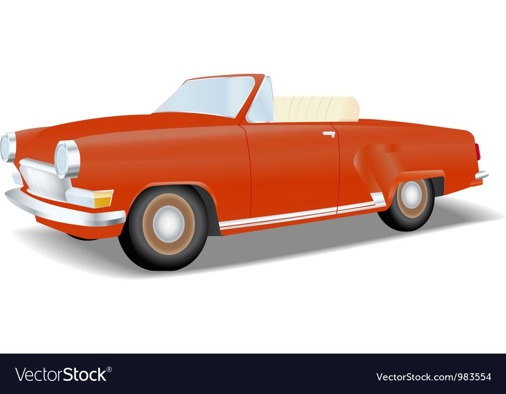 Retro red cabriolet