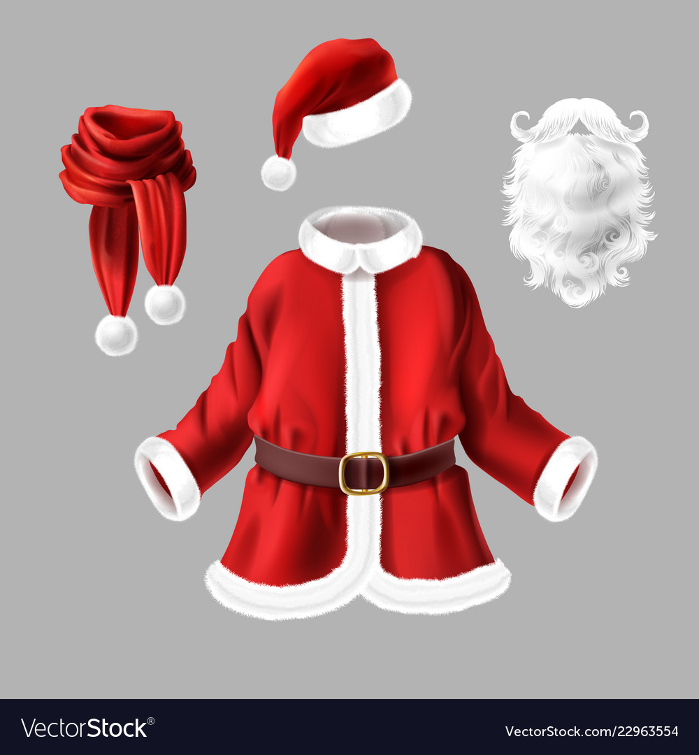 Santa claus costume fancy dress for party