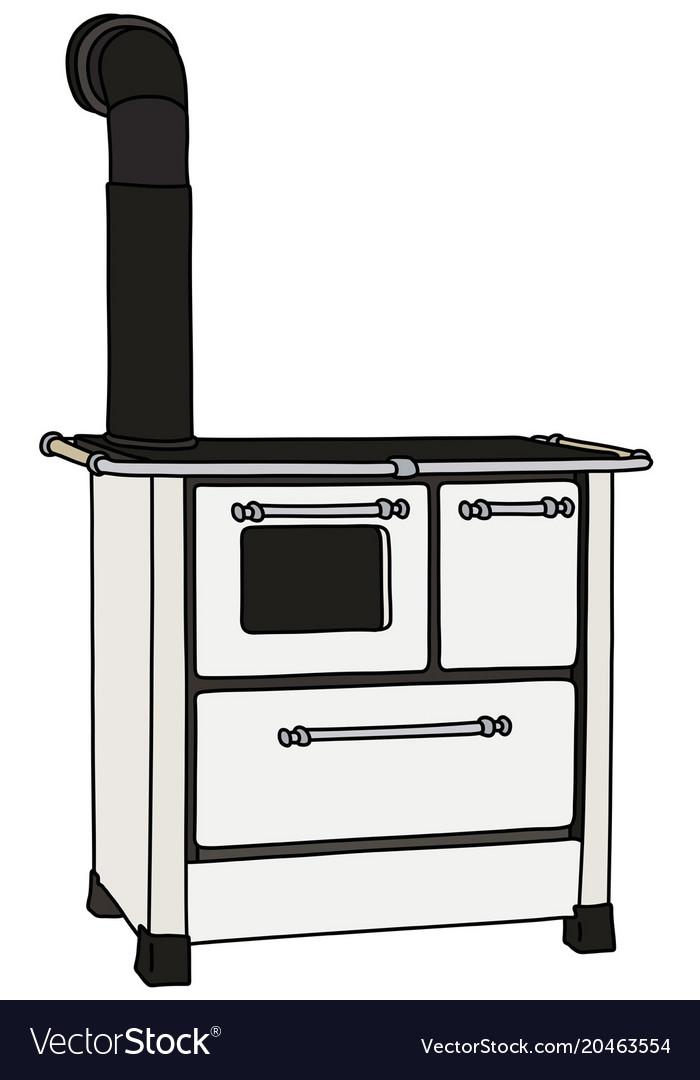 The Retro Kitchen Stove Vector Image