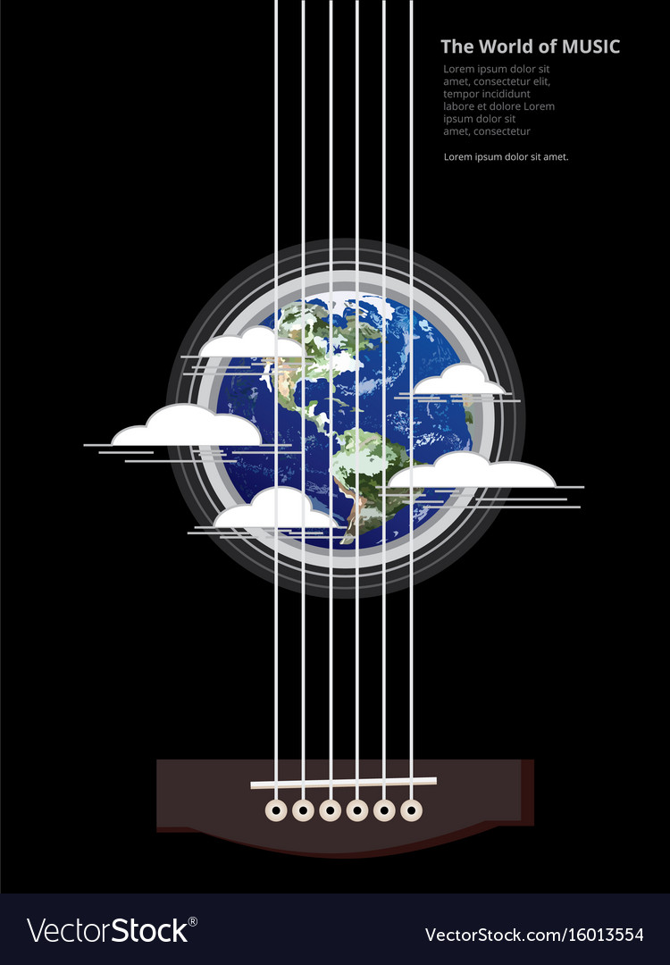 The world of music poster