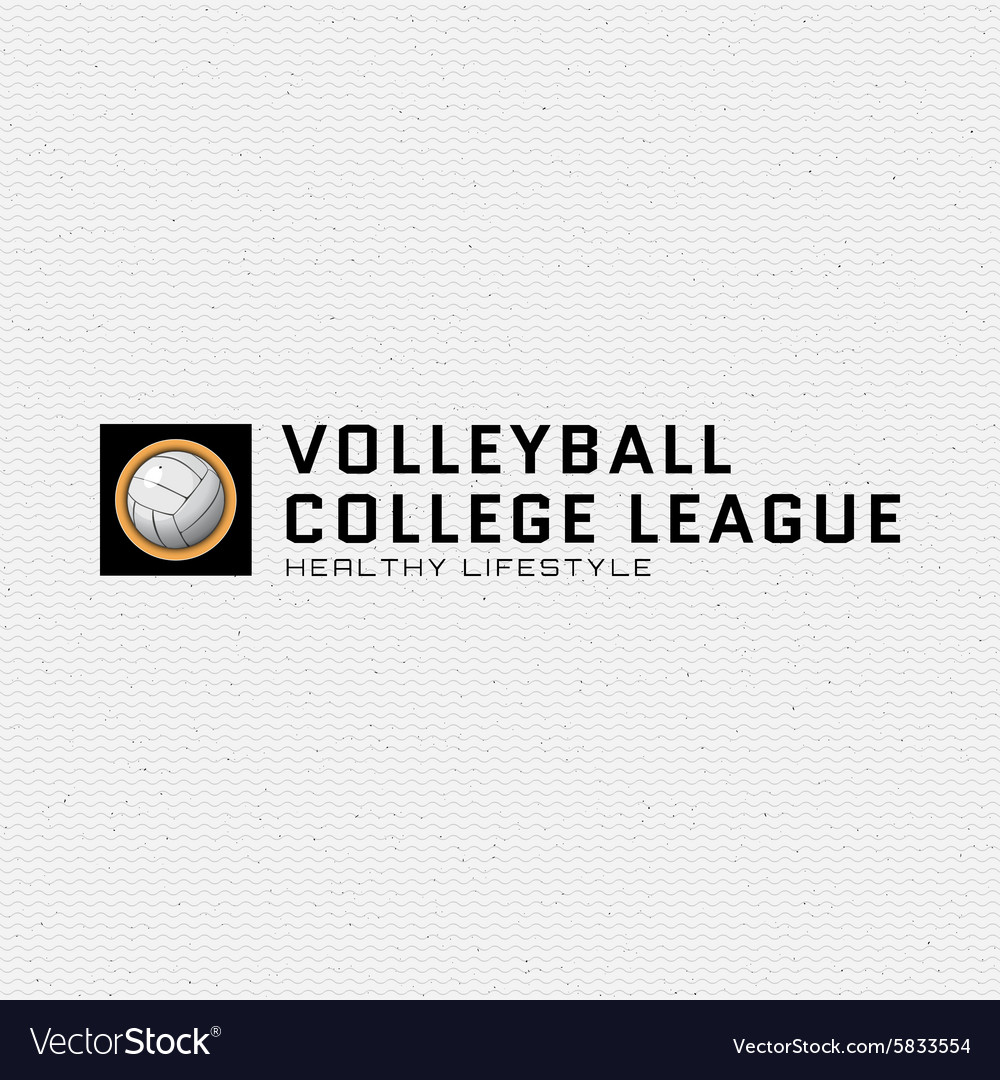 Volleyball badges logos and labels for any use vector image