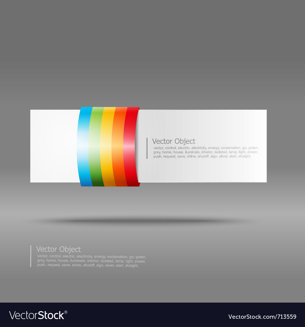 Abstract rainbow stripe banner vector image