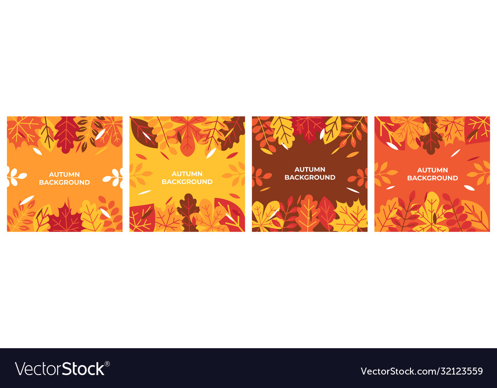 Autumn background autumn leaves for banner poster