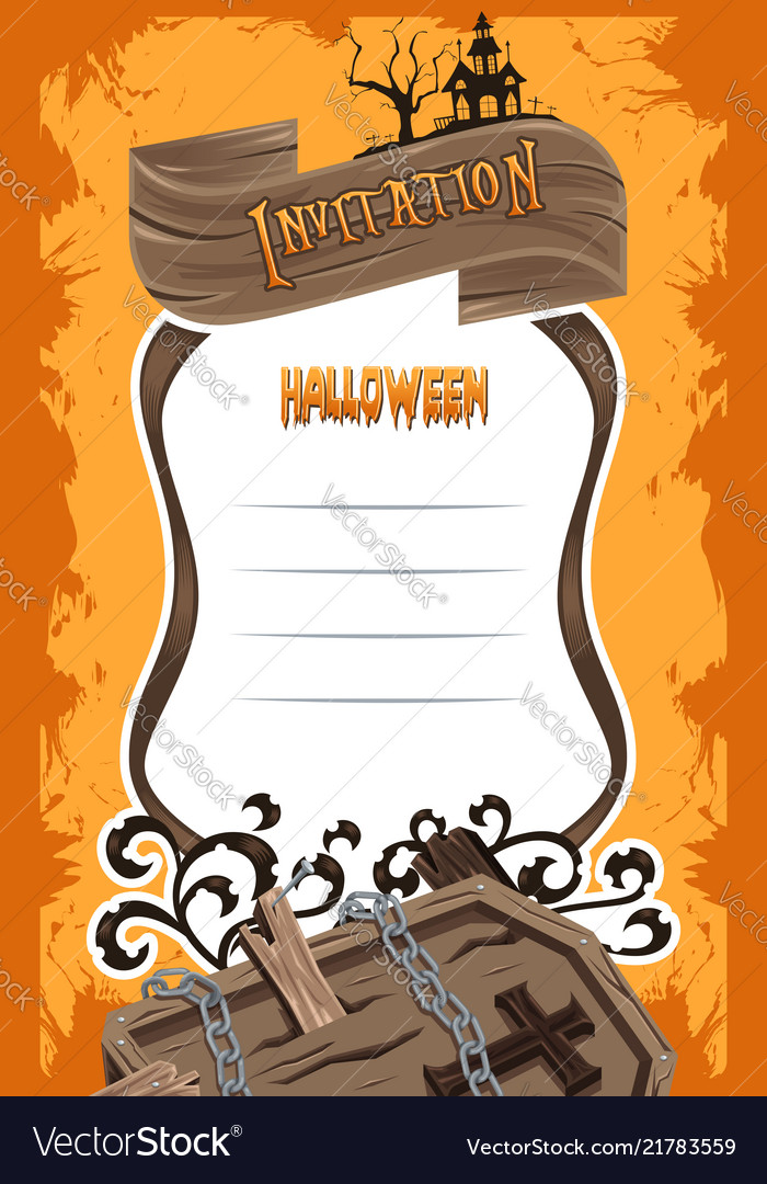 halloween invitation background royalty free vector image