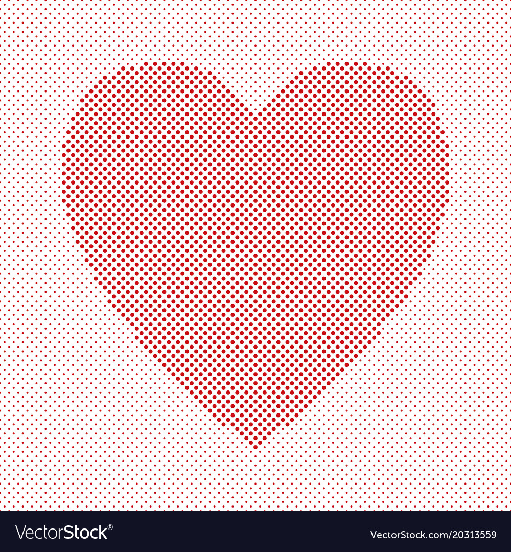 Heart shaped background design from red circles
