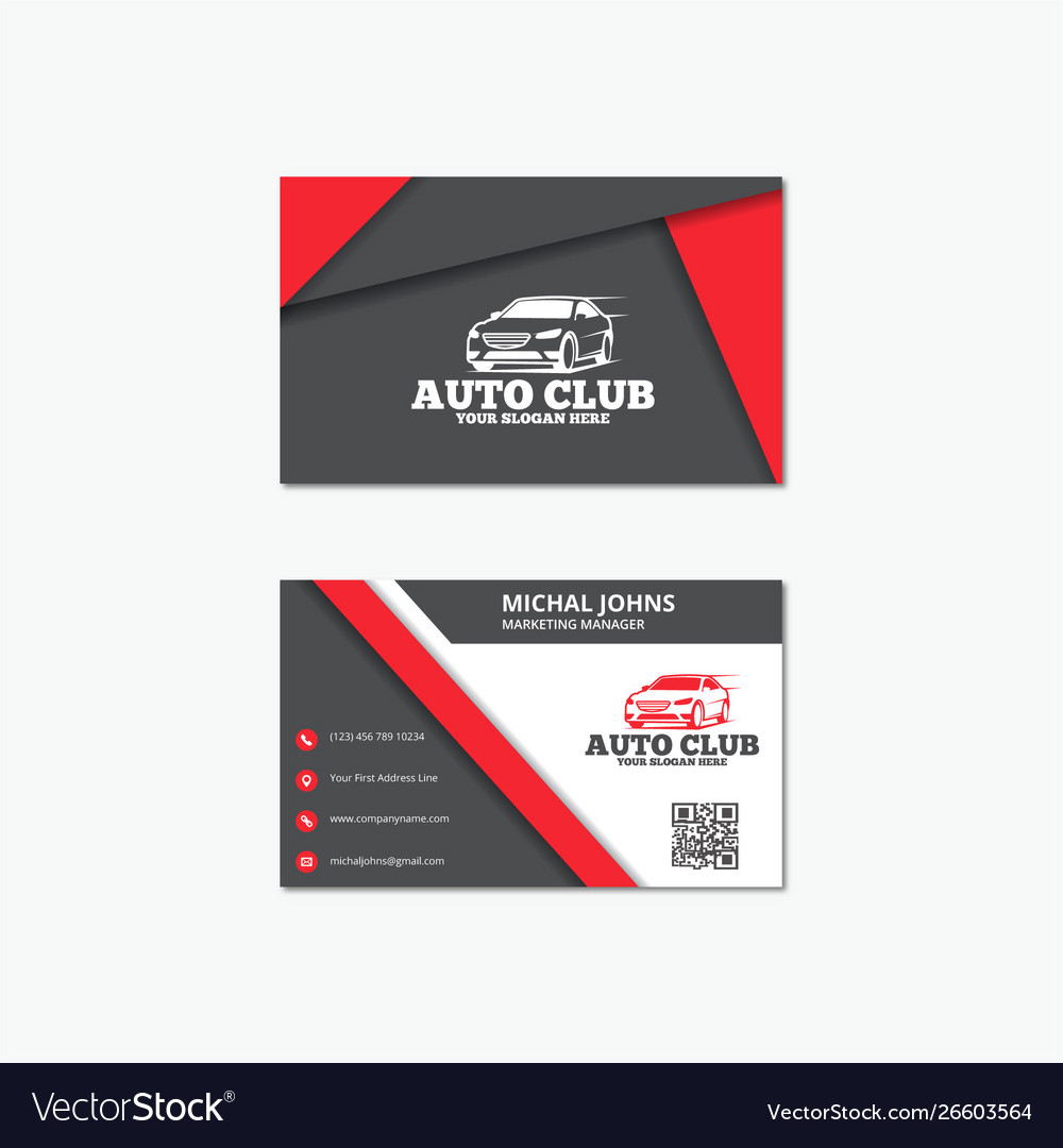 Auto business card templates Royalty Free Vector Image Intended For Automotive Business Card Templates