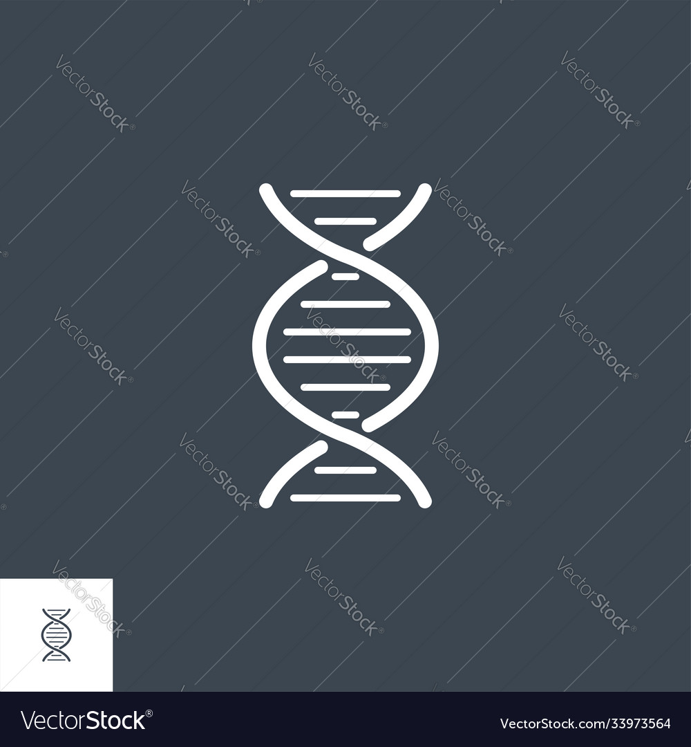Dna related glyph icon