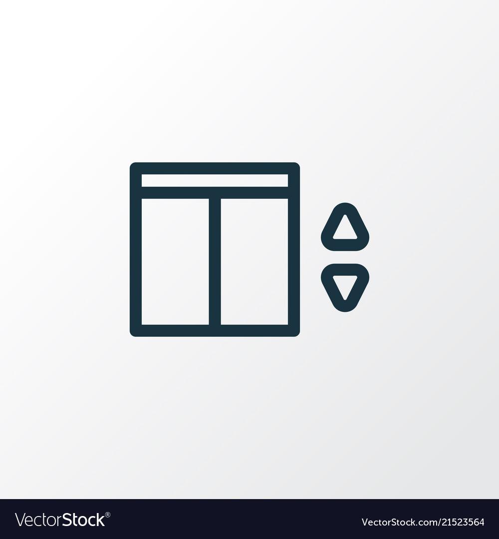 Elevator icon line symbol premium quality