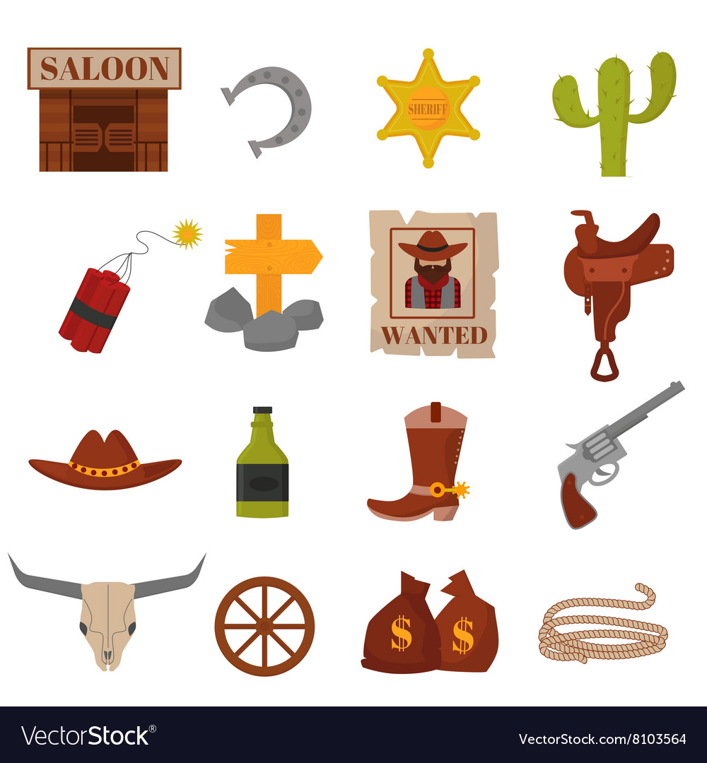 Vintage American old western designs sign and